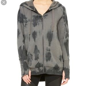 Alo yoga tie dye zip up